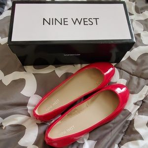 Nine West Red Ballet Flats